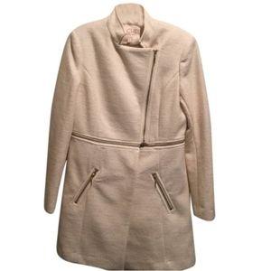 RACHEL ROY Cream Convertible Coat/Cropped Coat